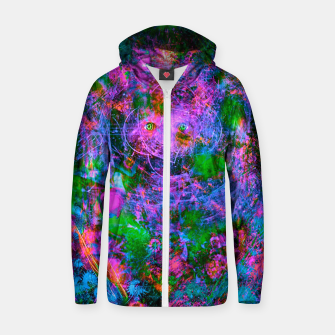 Thumbnail image of Underwater Shaman (The Midnight Zone) (abstract, visionary, psychedelic) Cotton zip up hoodie, Live Heroes