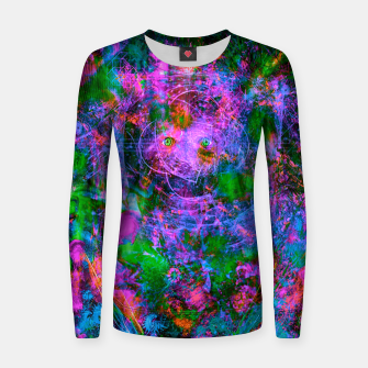 Thumbnail image of Underwater Shaman (The Midnight Zone) (abstract, visionary, psychedelic) Woman cotton sweater, Live Heroes