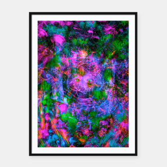 Miniatur Underwater Shaman (The Midnight Zone) (abstract, visionary, psychedelic) Framed poster, Live Heroes