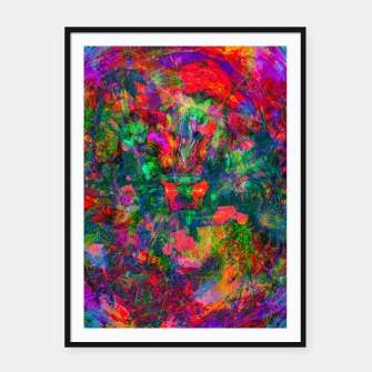 Miniatur Yawn (Agitated Yell) (abstract, psychedelic) Framed poster, Live Heroes