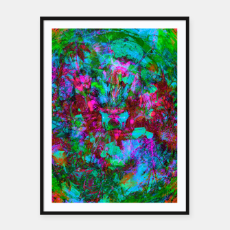 Miniatur Yawn (Calm Moan ) (abstract, psychedelic) Framed poster, Live Heroes
