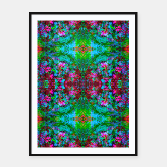 Miniatur Nausea 1969 I (abstract, psychedelic, pattern) Framed poster, Live Heroes