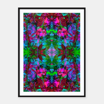 Miniatur Nausea 1969 II (abstract, psychedelic, fluorescent, blacklight)  Framed poster, Live Heroes