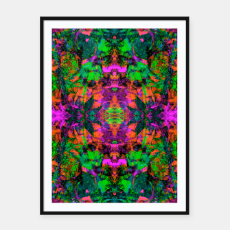 Miniatur Nausea 1969 II (Ultraviolet) (abstract, psychedelic, neon, fluorescent, blacklight) Framed poster, Live Heroes