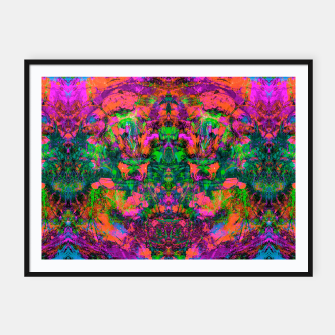 Miniatur Nausea 1969 (Ultraviolet) (abstract, psychedelic, fluorescent, neon, blacklight) ) Framed poster, Live Heroes