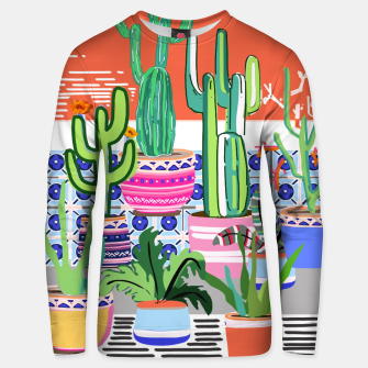 Thumbnail image of Cactus Window Cotton sweater, Live Heroes