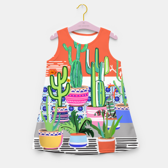 Thumbnail image of Cactus Window Girl's summer dress, Live Heroes