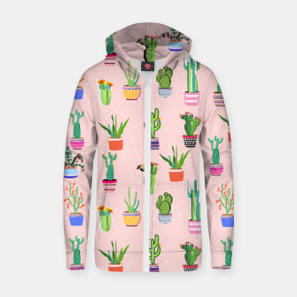 Thumbnail image of Cacti Land 2 Cotton zip up hoodie, Live Heroes