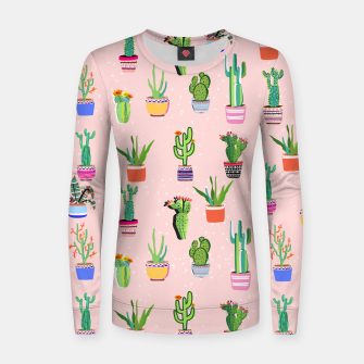 Thumbnail image of Cacti Land 2 Woman cotton sweater, Live Heroes
