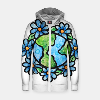 Thumbnail image of Earth Cotton zip up hoodie, Live Heroes