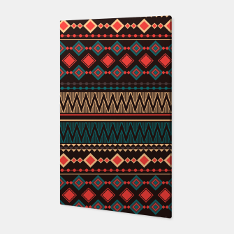 Thumbnail image of Aztec and Nordic Pattern Dark Canvas, Live Heroes