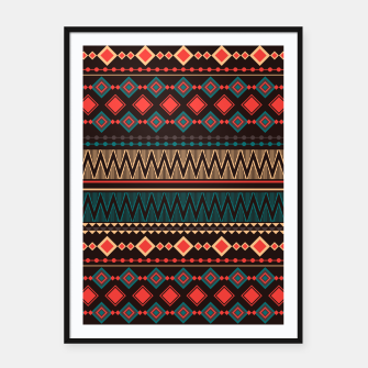 Miniatur Aztec and Nordic Pattern Dark Framed poster, Live Heroes