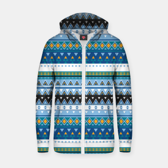 Thumbnail image of Aztec and Nordic Pattern Ice Cotton zip up hoodie, Live Heroes