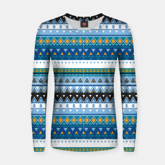 Thumbnail image of Aztec and Nordic Pattern Ice Woman cotton sweater, Live Heroes