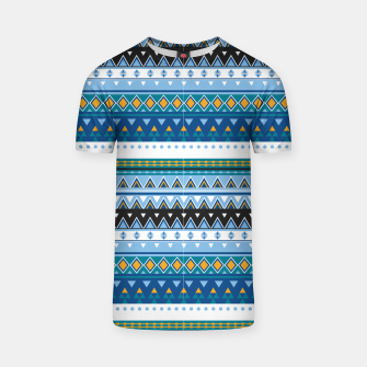 Thumbnail image of Aztec and Nordic Pattern Ice T-shirt, Live Heroes