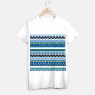 Thumbnail image of Aztec and Nordic Pattern Ice T-shirt regular, Live Heroes