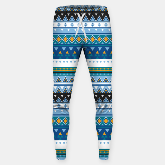 Thumbnail image of Aztec and Nordic Pattern Ice Cotton sweatpants, Live Heroes