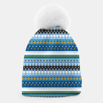 Thumbnail image of Aztec and Nordic Pattern Ice Beanie, Live Heroes