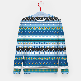 Thumbnail image of Aztec and Nordic Pattern Ice Kid's sweater, Live Heroes