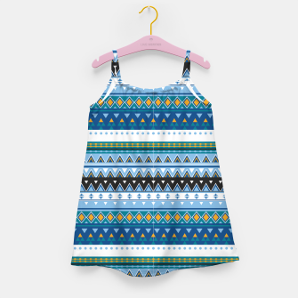 Thumbnail image of Aztec and Nordic Pattern Ice Girl's dress, Live Heroes