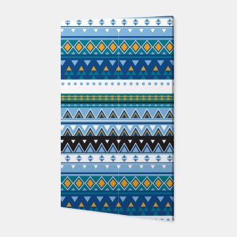 Thumbnail image of Aztec and Nordic Pattern Ice Canvas, Live Heroes