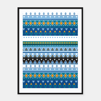 Thumbnail image of Aztec and Nordic Pattern Ice Framed poster, Live Heroes