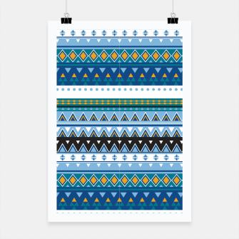 Thumbnail image of Aztec and Nordic Pattern Ice Poster, Live Heroes