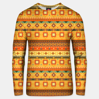 Thumbnail image of Aztec and Nordic Pattern Autumn Cotton sweater, Live Heroes