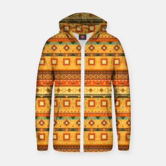 Thumbnail image of Aztec and Nordic Pattern Autumn Cotton zip up hoodie, Live Heroes