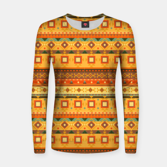 Thumbnail image of Aztec and Nordic Pattern Autumn Woman cotton sweater, Live Heroes