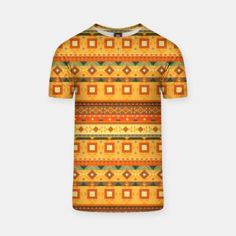 Thumbnail image of Aztec and Nordic Pattern Autumn T-shirt, Live Heroes