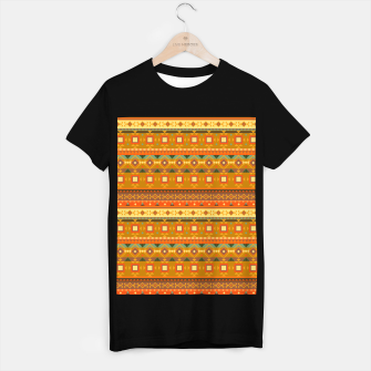 Thumbnail image of Aztec and Nordic Pattern Autumn T-shirt regular, Live Heroes
