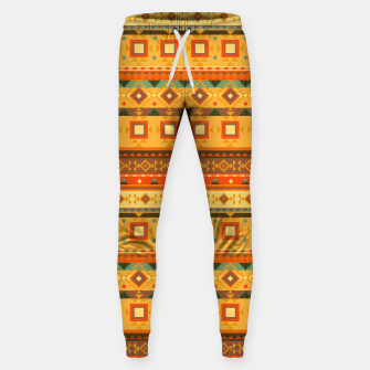 Thumbnail image of Aztec and Nordic Pattern Autumn Cotton sweatpants, Live Heroes