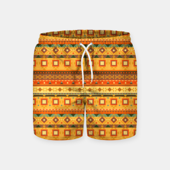Thumbnail image of Aztec and Nordic Pattern Autumn Swim Shorts, Live Heroes