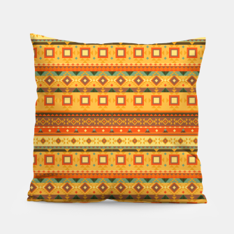 Thumbnail image of Aztec and Nordic Pattern Autumn Pillow, Live Heroes