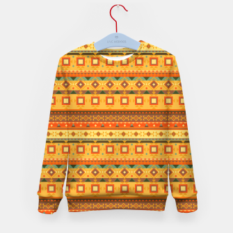 Thumbnail image of Aztec and Nordic Pattern Autumn Kid's sweater, Live Heroes