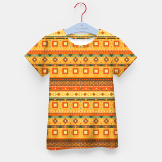 Thumbnail image of Aztec and Nordic Pattern Autumn Kid's t-shirt, Live Heroes