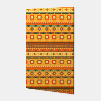 Thumbnail image of Aztec and Nordic Pattern Autumn Canvas, Live Heroes
