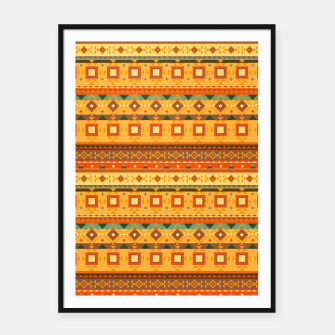 Thumbnail image of Aztec and Nordic Pattern Autumn Framed poster, Live Heroes