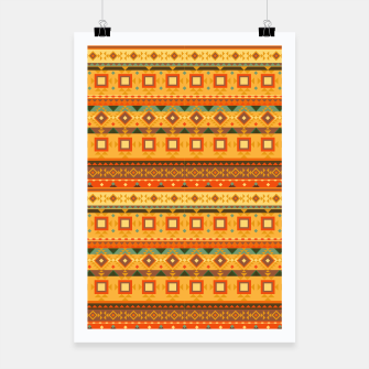 Thumbnail image of Aztec and Nordic Pattern Autumn Poster, Live Heroes