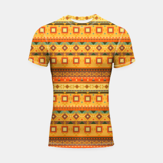 Thumbnail image of Aztec and Nordic Pattern Autumn Shortsleeve rashguard, Live Heroes