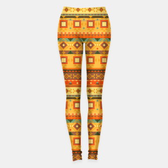 Thumbnail image of Aztec and Nordic Pattern Autumn Leggings, Live Heroes