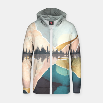 Thumbnail image of Summer Reflection Cotton zip up hoodie, Live Heroes
