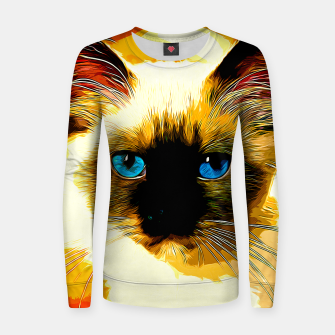 Thumbnail image of gxp holy birma cat blue eyes vector art Woman cotton sweater, Live Heroes