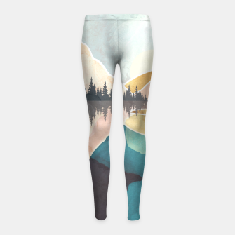 Thumbnail image of Summer Reflection Girl's leggings, Live Heroes