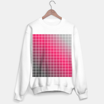 Miniaturka Chequered hot pink and grey stripes Sweater regular, Live Heroes