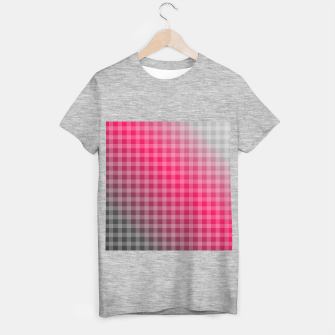 Miniatur Chequered hot pink and grey stripes T-shirt regular, Live Heroes