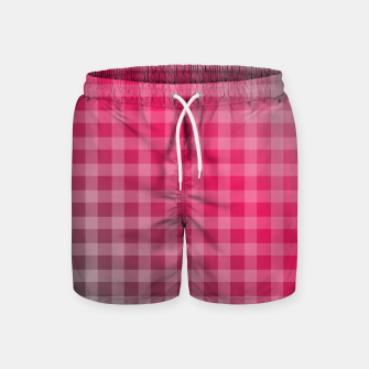 Thumbnail image of Chequered hot pink and grey stripes Swim Shorts, Live Heroes