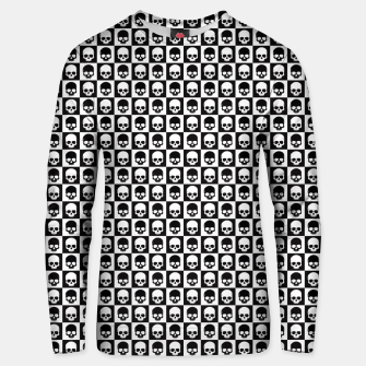 Thumbnail image of Checkered Skulls Pattern I Cotton sweater, Live Heroes