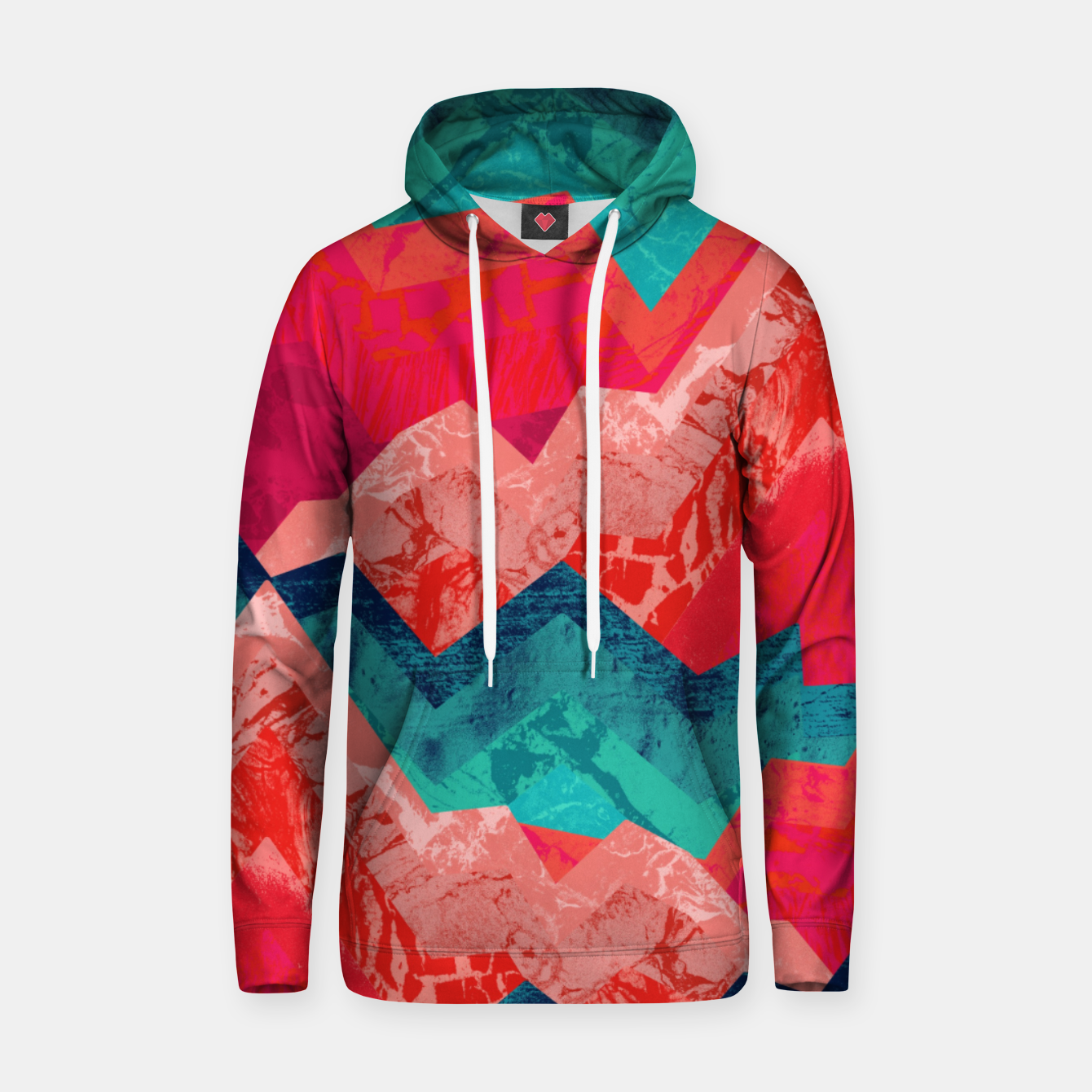 Image of The red textured hills  Cotton hoodie - Live Heroes